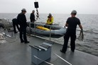 AUV A9-M surveys seabed for mines