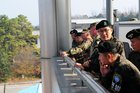 North and South Korean soldiers enter each other's territory