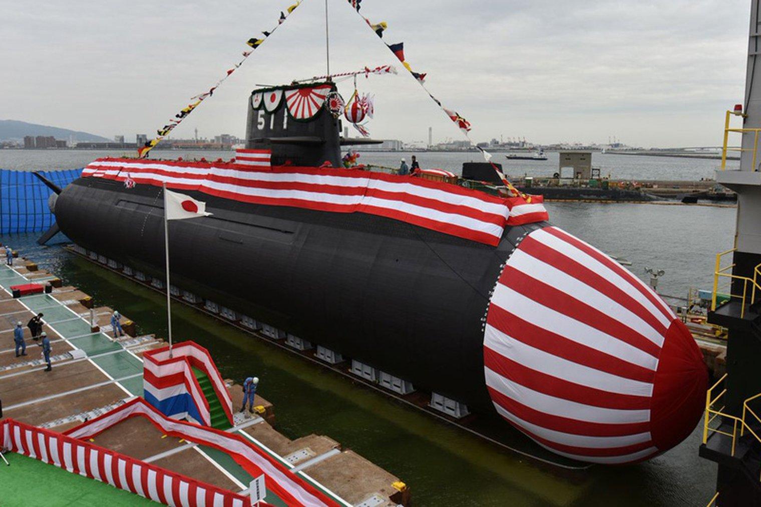 Japan launches first Li-ion submarine - NWI - Naval Warfare