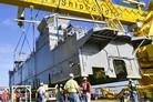Ingalls installs deckhouse on LHA 7