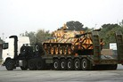 Iran unveils new tank transporter