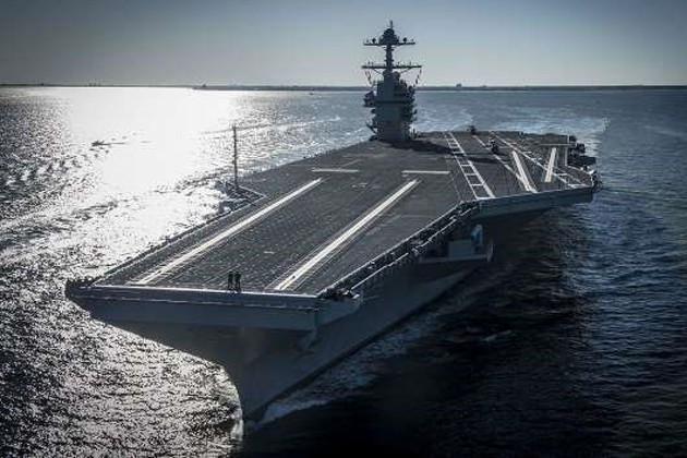 Globecomm systems for USS Gerald R Ford