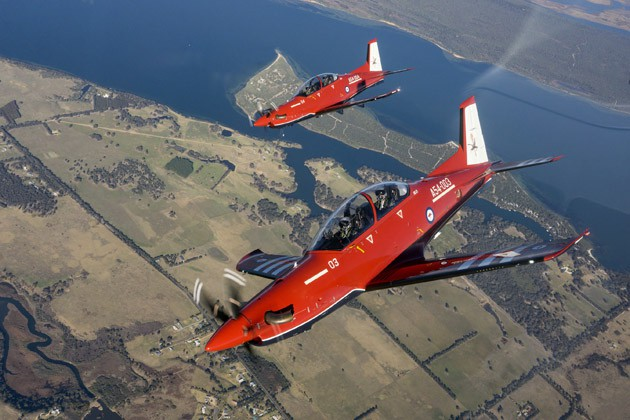 First flight of RAAF's in-service PC-21