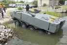 Amphibious vehicles arriving for USMC