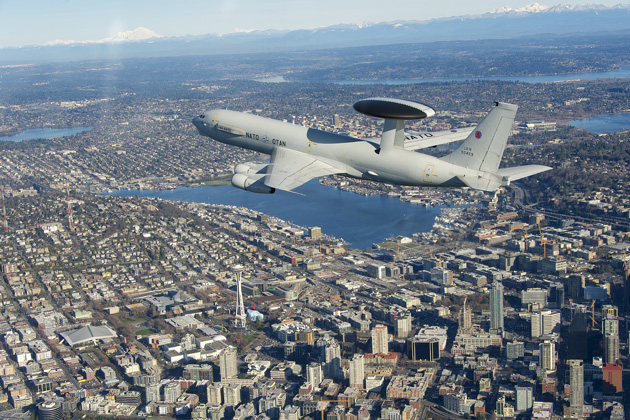 NATO AWACS flies with modernised flight deck