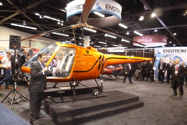 Heli Expo 2014: Enstrom unveils TH180 light piston helicopter