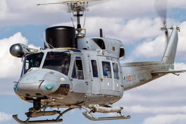 Spanish Navy receives AB-212 helicopter