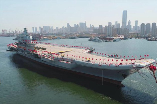 China launches first home-built carrier