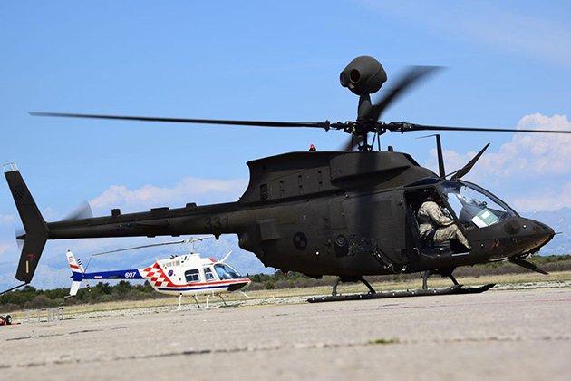 Quad A 2017: Croatia performs first Kiowa Warrior flights