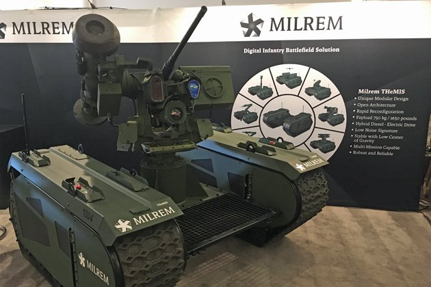 UGV weaponised with Javelin