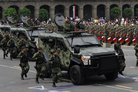 Mexican security and defence vehicles converge