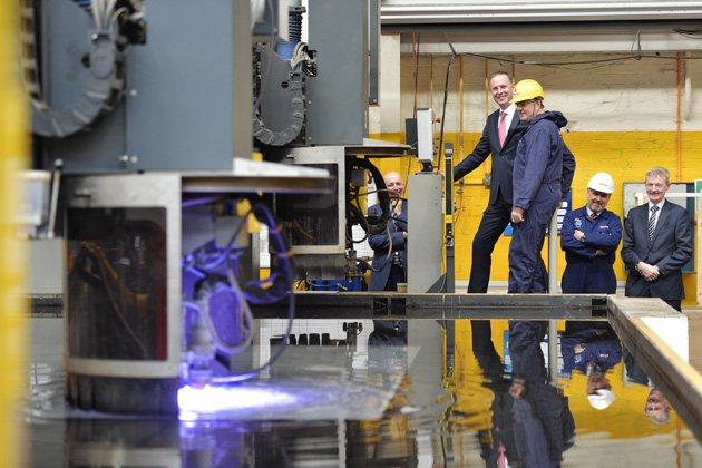 Work on HMS Spey begins