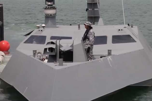 Singapore navy reveals stealth vessel