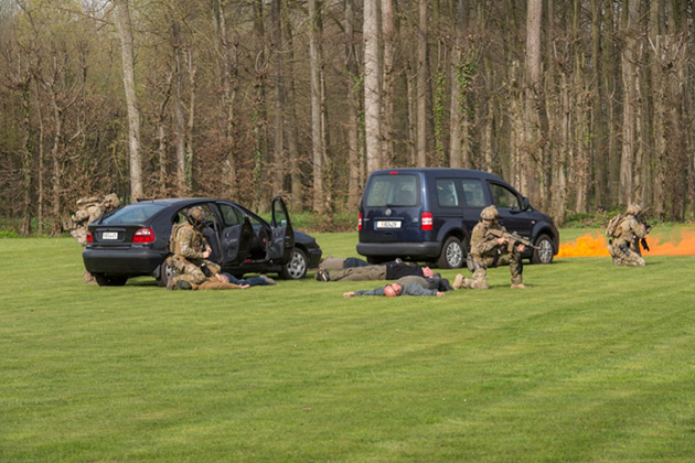 Belgium's special forces show of force
