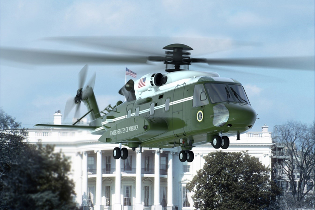 Presidential helicopter VH-92A takes flight