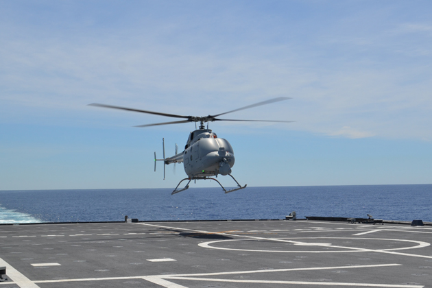 MQ-8C undertakes first flight aboard LCS