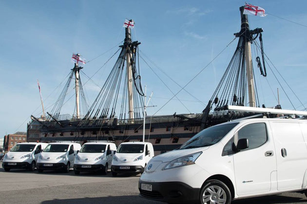 Electric vans for Portsmouth Naval Base