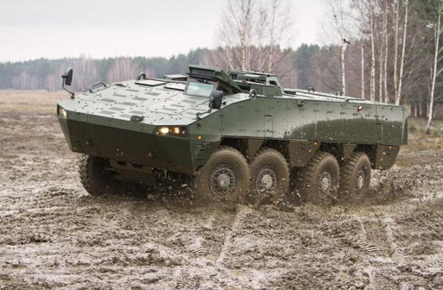 IDEX 2017: Patria unveils new AMV variant