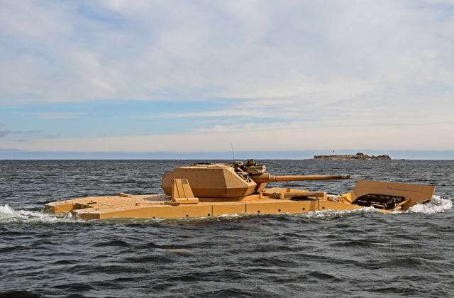 Patria AMV28A completes first amphib tests