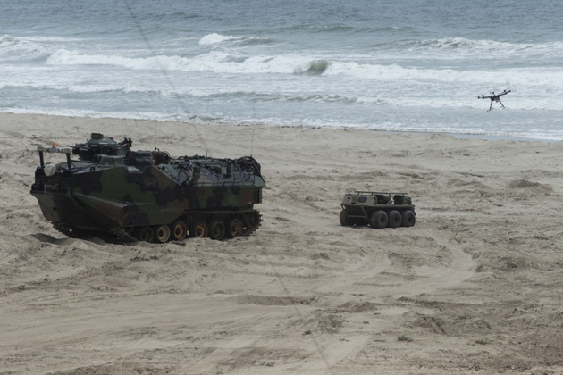 USMC and navy conduct technology experiment
