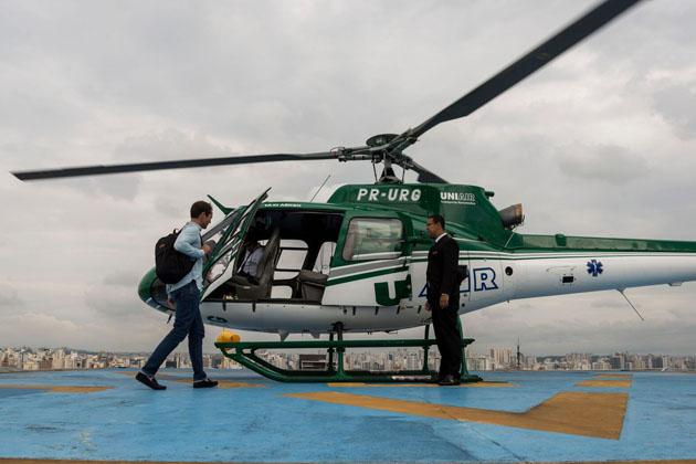 Urban heli taxis take-off