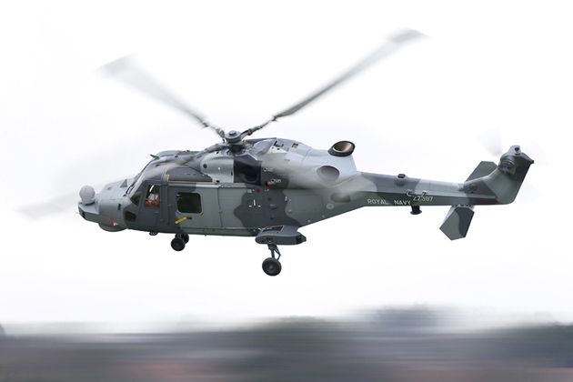 Royal Navy Wildcat helicopter takes flight